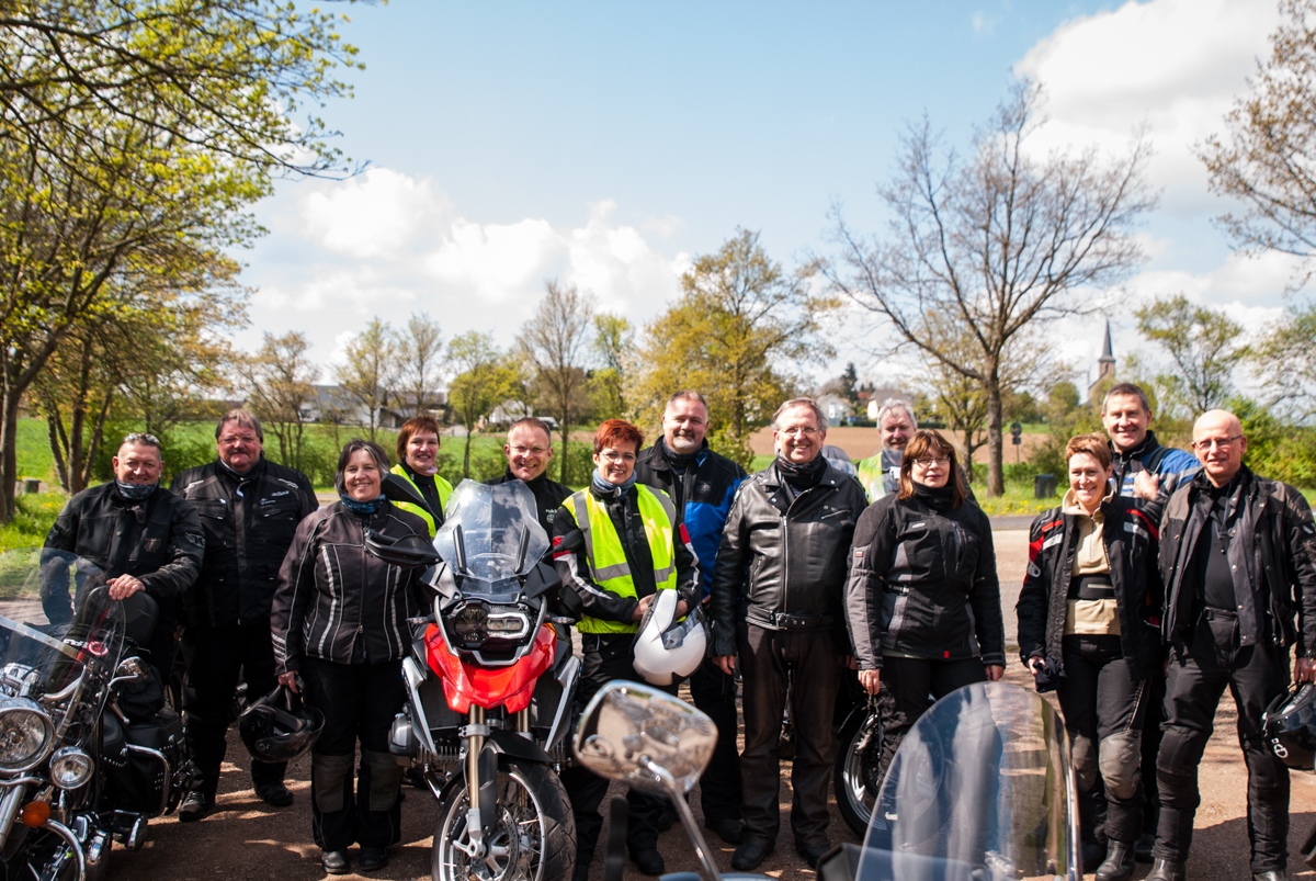 """Routenteam Eifel Motorrad"" bei der Team-Tour 2015 (Foto: Thomas Hendele)"