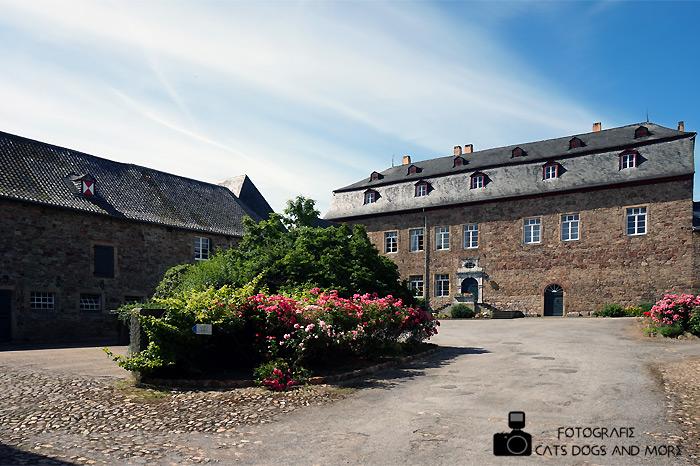 Innenhof der Burg Untermaubach