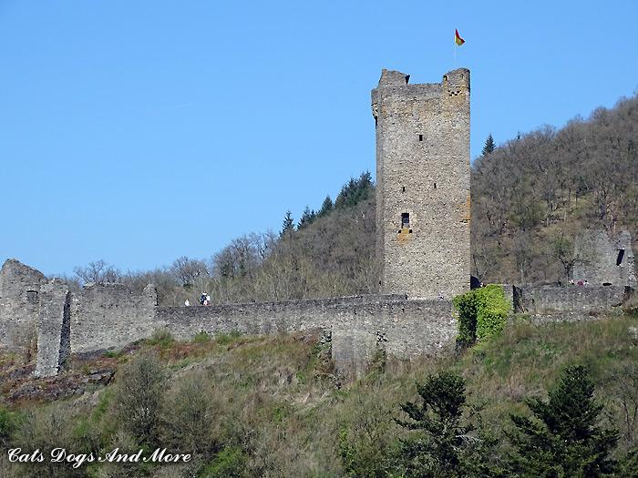 Blick auf die Oberburg Manderscheid